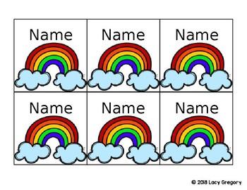 *EDITABLE* Unicorn Themed Name Tags/Name Plates