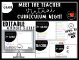 **EDITABLE** Virtual 2nd GRADE Meet the Teacher / Curriculum Night Google Slides