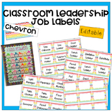 **EDITABLE ll Class Leadership Job Labels and Job Application