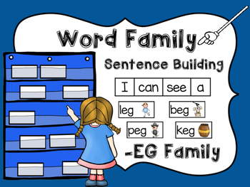 -EG Word Family Sentence Building