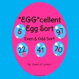 """""""EGG""""cellent Even & Odd Easter Egg Sort- Math Center (Mini"""