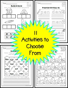 -EN Word Family Practice Printables