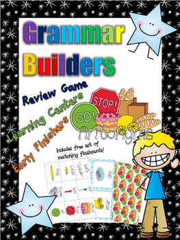 *Print and Play* Grammar Builders - Memory Games - Antonyms