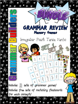 *Print and Play* Grammar Builders - Memory Games - Irr. Past Tense Verbs BUNDLE