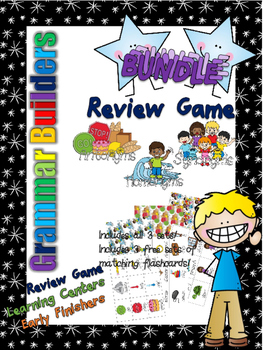 *Print and Play* Grammar Builders - Memory Games - Syno/An
