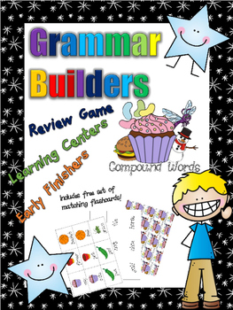 *Print and Play* Grammar Builders - Memory Games - Compound Words