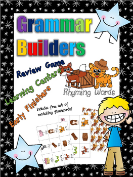 *Print and Play* Grammar Builders - Memory Games - Rhyming Words