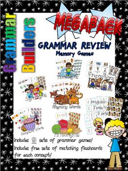 *Print and Play* Grammar Builders - Memory Games - MEGAPACK - 9 games!