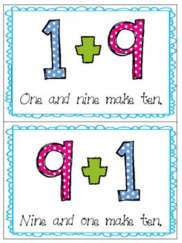 *Print and Play* Math Builders - Memory Games - Make Ten