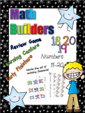 *Print and Play* Math Builders - Memory Games -  Number Recognition 11-20