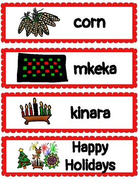 (ENG) Word Wall: Happy Holidays! (Christmas, Hanukkah, Diwali and Kwanzaa!)