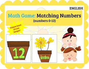 (ENGLISH) Math Game: Matching Numbers (0-12)