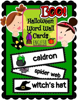 (ENGLISH) Word Wall: Halloween