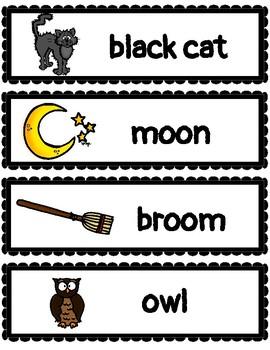 (ENGLISH) Word Wall: Halloween