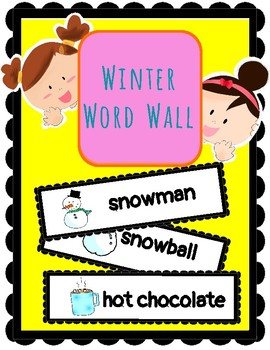 (ENGLISH) Word Wall: Hello winter!