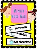(ENGLISH) Word Wall: Hello winter!