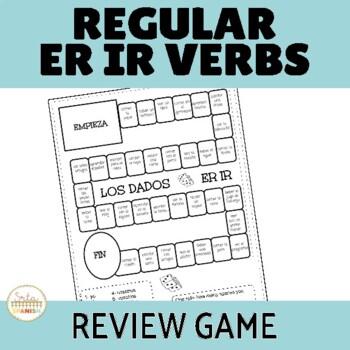 ER IR Regular Verbs Review Game Los Dados