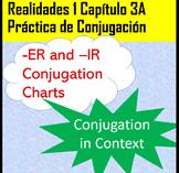 -ER/-IR an -AR Verb Conjugation Realidades 1 Chapter 3A PDF and Google Slides