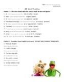 -ER VERBS in French - Worksheet practice - Homework