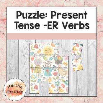 -ER Verbs Puzzle