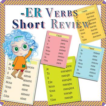 -ER Verbs Review (aimer, manger, chanter, parler, visiter, chercher, écouter)