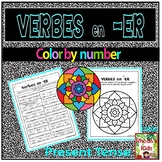 -ER Verbs in French- Present Tense- Color by Number