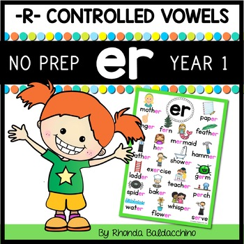 'ER'  Worksheets and Activities NO PREP