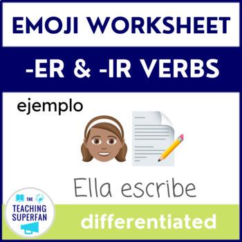 Emoji Translation for -ER and -IR Verbs (Spanish Worksheet)