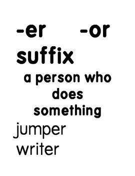 -ER and -OR suffix