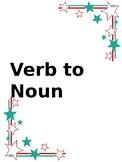 """""""ER"""" endings-  Noun to Verb"""