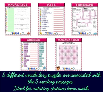 Summer Holidays Destinations ESL/ELL Unit Reading and Writing Activities
