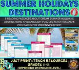 SUMMER HOLIDAYS DESTINATIONS (ESL): Reading and Writing Pr
