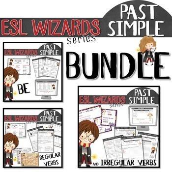"""""""ESL wizards"""" BUNDLE – PAST - BE, Regular and irregular verbs"""
