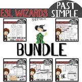 "NEW - ""ESL wizards"" BUNDLE – PAST - BE, reg. & irreg. verbs, review + bookmark"