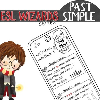 "NEW - ""ESL wizards"" series – ""My first IRREGULAR verbs"" BOOKMARK"