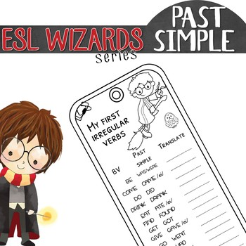 """ESL wizards"" series – ""My first IRREGULAR verbs"" BOOKMARK"