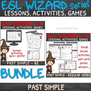 """NEW - """"ESL wizards"""" BUNDLE – PAST - BE & Regular verbs"""