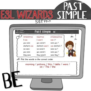 """NEW - """"ESL wizards"""" series – PAST SIMPLE """"BE"""" for Harry Potter fans"""