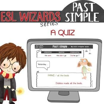 "NEW - ""ESL wizards"" series – ""My first IRREGULAR VERBS"" activities & games"