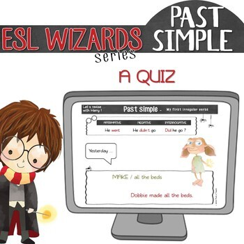 """ESL wizards"" series – ""My first IRREGULAR VERBS"" activities & games"