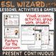 « ESL wizards » series – PRESENT CONTINUOUS activities & games