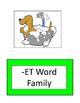 -ET Word Family Packet