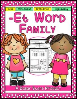 -ET Word Family Practice Printables