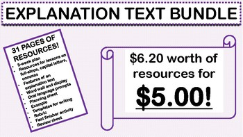 EXPLANATION TEXT BUNDLE YEAR 2 GRADE 2