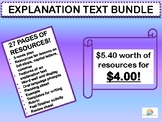 EXPLANATION TEXT BUNDLE