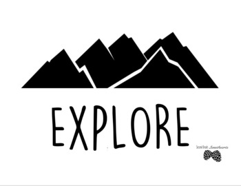 """EXPLORE"" Printable Classroom Poster"