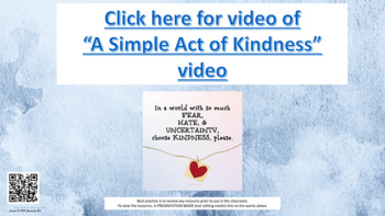"""""""Each Kindness"""" 15 Slide Bullying Friendship Guidance Lesson w links to 3 videos"""