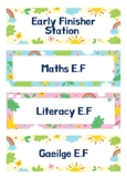 'Early Finisher Station' Labels