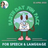 Earth Day Fun Pack | NO PREP Speech Language Activities &