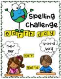 'Earth Day' Spelling Challenge